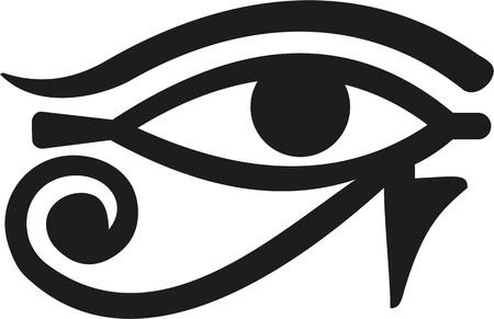Illustration pour Horus Eye egypt - image libre de droit
