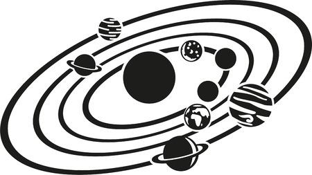 Illustration pour Solar system - image libre de droit
