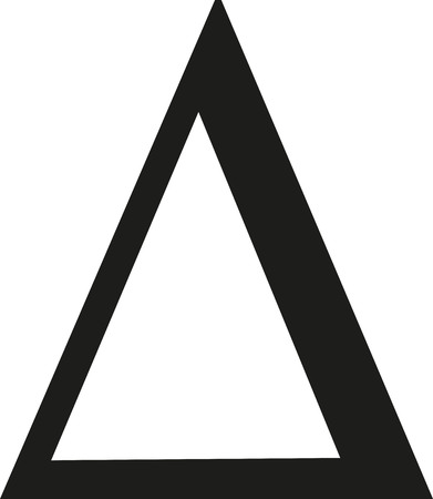 Illustration for Delta sign - Royalty Free Image