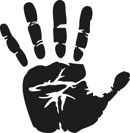 Illustration pour Real Handprint - image libre de droit