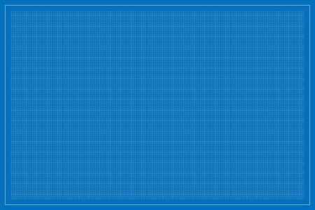 Illustration pour Rectangle (landscape oriented)  shape blueprint template, with square subdivisions, vector illustration - image libre de droit