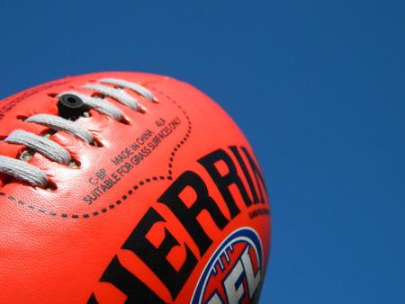 Foto de Close up of an Australian rules football - Imagen libre de derechos