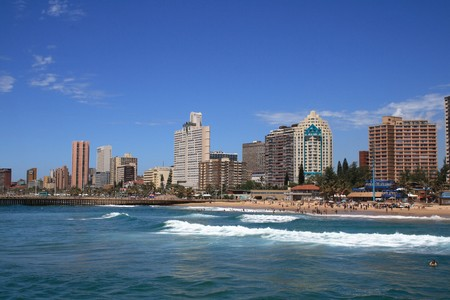 coastline city view of Durban, south africa
