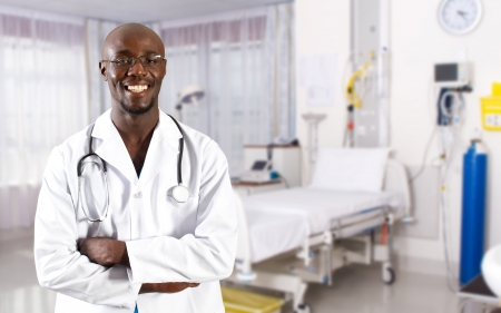 african doctor in hospital ward