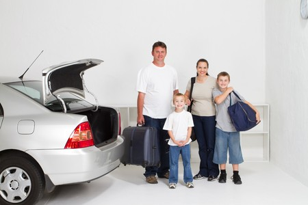 happy family on holiday roadtrip