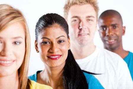 Foto de people diversity - group of diverse people closeup portrait - Imagen libre de derechos