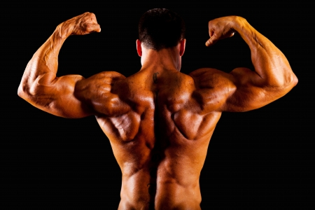 rear view of bodybuilder top