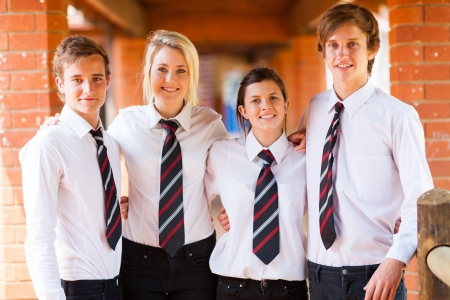 group of high school students portrait