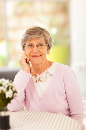 elegant senior woman at home