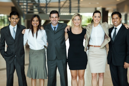beautiful business people standing together