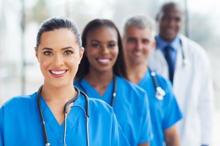 group of modern medical professionals portrait