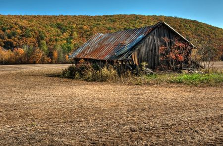Old weathered barn in Autumn
