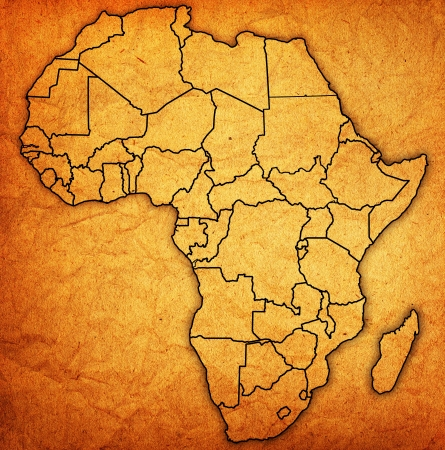 Vintage Map Of Africa Mural Wallpaper