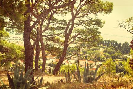 Photo of Marjan Hill, Split, Dalmatia, Croatia - vintage version