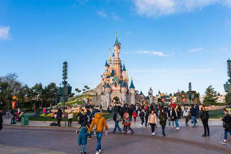 Photo pour PARIS, FRANCE - JANUARY 19, 2020: Famous theme park Disneyland in Paris, France, Europe - image libre de droit