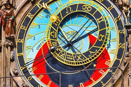 Foto de Detail of the astronomical clock in the old square of Prague - Imagen libre de derechos