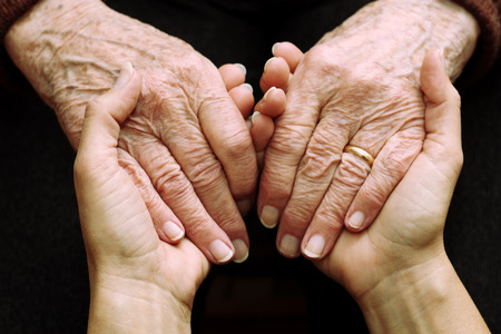 Photo for Support and help the elderly - Royalty Free Image