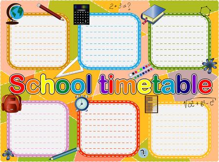 Illustration pour background frame design of School Timetable, Schedule,Weekly school timetable - image libre de droit