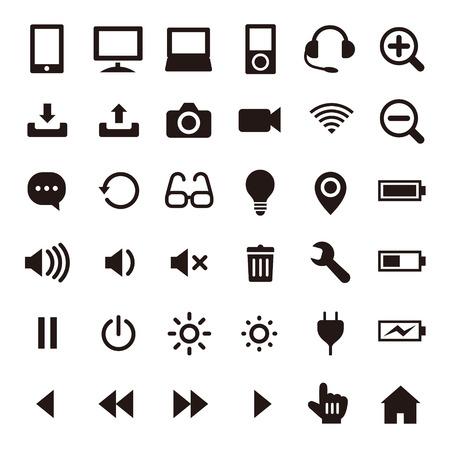 Illustration pour Business & computer icons - image libre de droit