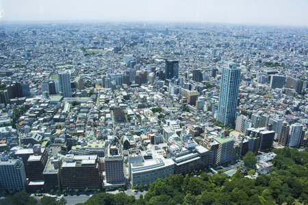 City view from the observation deck of Tokyo Metropolitan Government Office Building