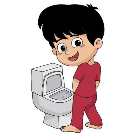 Ilustración de kid peeing.vector and illustration. - Imagen libre de derechos