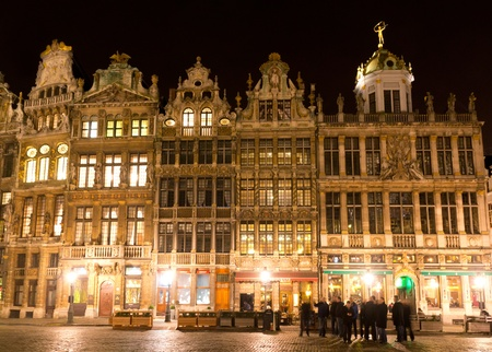 Ornate buildings of Grand Place, Brussels, Belgium