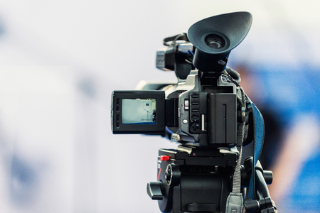 Photo pour Video camera, detail from public event - image libre de droit