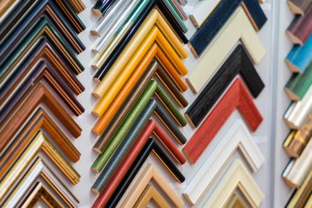 Photo pour Selection of picture frames on display - image libre de droit
