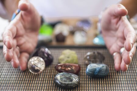 Photo for Crystal Healing and Numerology Energy Work, Seven Stones - Royalty Free Image