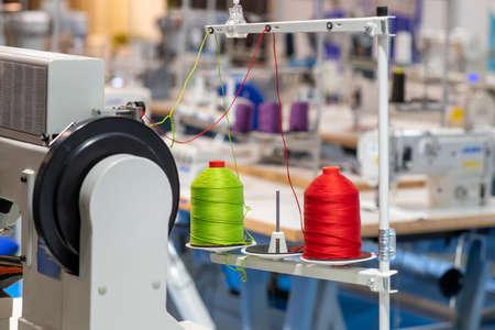 Photo pour Sewing Machine in Factory. - image libre de droit
