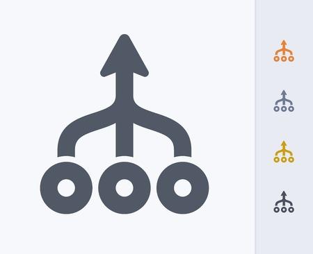Ilustración de Teamwork concept icon - Imagen libre de derechos
