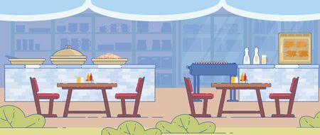 Illustration pour Traditional Barbecue and Grill Restaurant Design - image libre de droit
