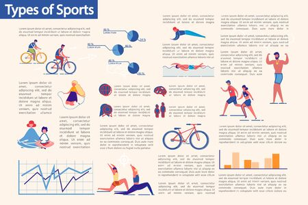 Illustration for Kinds of Sport and Workouts Types Infographic Set. - Royalty Free Image