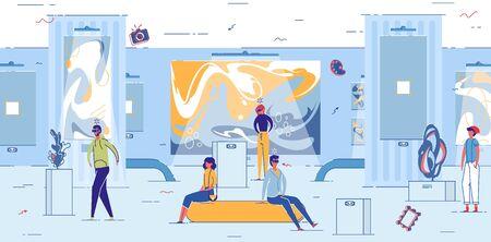Illustration pour Guest Experience in Virtual Reality Attraction - image libre de droit