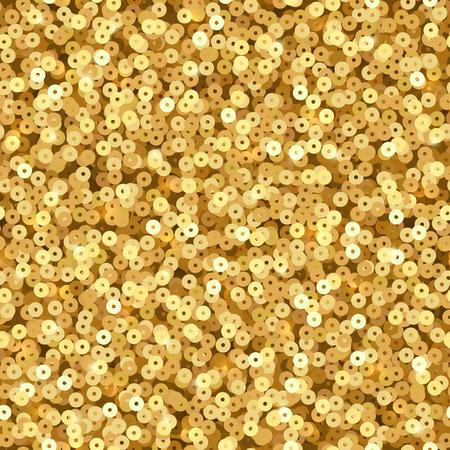 Illustration pour Gold luxury shimmer sequins. Disco party vector seamless texture - image libre de droit