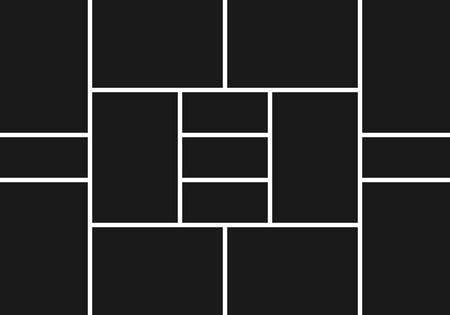 Illustration pour Photo collage. Image frames template. Picture montage abstract vector background. Illustration of frame photo collage black white, photoframe border - image libre de droit