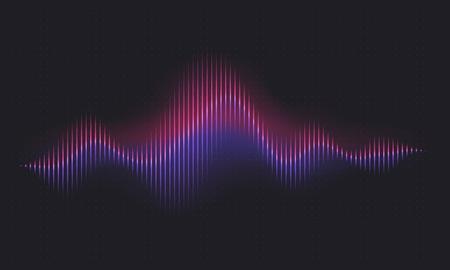 Illustration pour Abstract sound wave. Voice digital waveform, volume voice technology vibrant wave. Music sound energy vector background. Equalizer volume, waveform electronic light illustration - image libre de droit