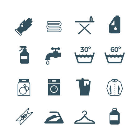 Illustration for Housework and laundry vector icon. Laundry machine and washing, illustration of equipment washing - Royalty Free Image