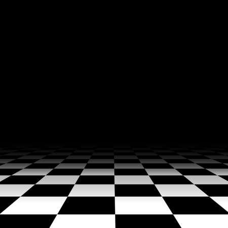 Illustration pour Black and white chess floor background empty. Vector illustration - image libre de droit