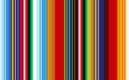 Illustration pour Seamless pattern with colorful stripes for fabric and wallpaper. Mexican Blanket Stripes Seamless Vector Pattern. Background for Cinco de Mayo Party Decor or Mexican Food Restaurant Menu. - image libre de droit