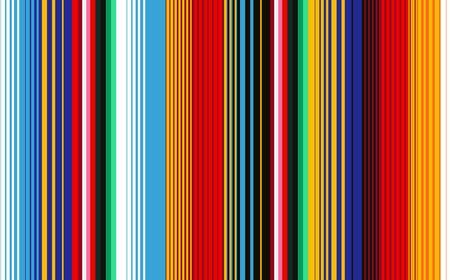 Ilustración de Seamless pattern with colorful stripes for fabric and wallpaper. Mexican Blanket Stripes Seamless Vector Pattern. Background for Cinco de Mayo Party Decor or Mexican Food Restaurant Menu. - Imagen libre de derechos