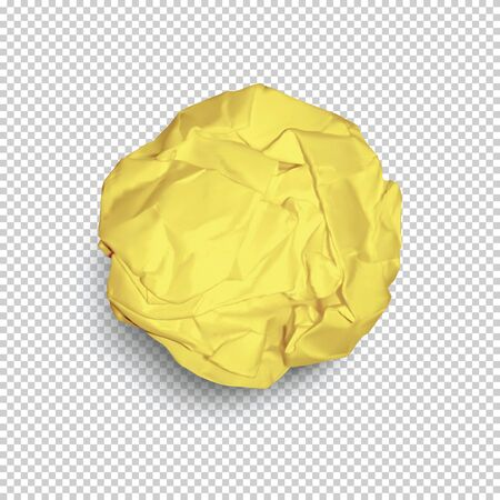 Illustration pour Paper ball isolated on transparent background in vector format - image libre de droit