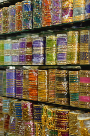 Bangles in a shop