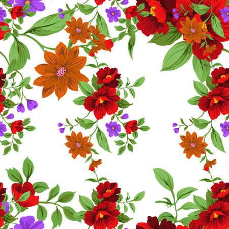 Illustration pour Small Floral Seamless Pattern with Cute Flowers . Feminine Texture in Rustic, Calico. Vector Spring and summer - image libre de droit
