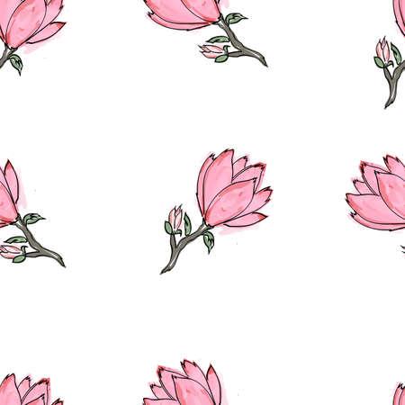 Illustration pour Seamless pattern of handrawn stylish hipster mustache random beige background - image libre de droit