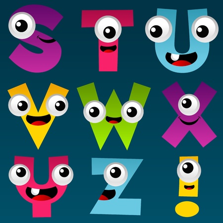 Cartoon Alphabet Set 3