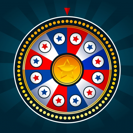 Illustration of game wheel with patriotic colors