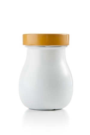 Blank Plastic Jar on White