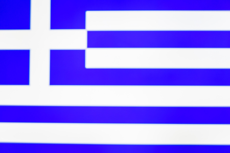 abstract blurred background color of the national flag of Greece, Patriotic background