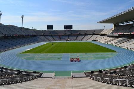 Barcelona, Spain - September 7th, 2011: Estadi Olimpic Lluis Companys in Barcelona, Spain